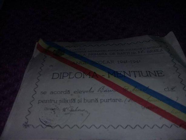 Diploma mentiune 1942-diploma mentiune 1945,Certificat de absolvire 82