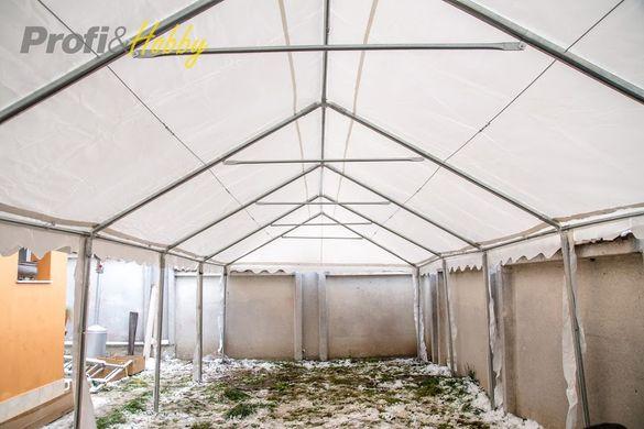 Професионална шатра 4х10м, огнеустойчив PVC брезент 550гр/м2