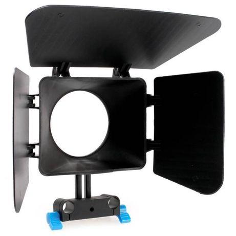 Parasolar Matte Box M1 15 mm Rail Rod suport DSLR, mirrorless, videoca