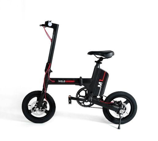 iVELO Bicicleta elec. pliabila baterie LG LI-ion 7.8Ah 50km,bluetooth