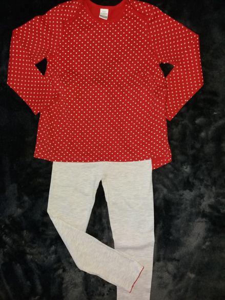 Памучна пижамка и блузка от фино трико /ръст до 104см