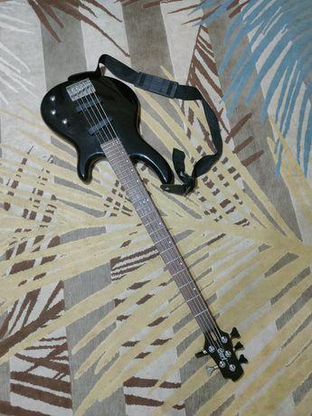 Бас гитара Cort Action 5 пятиструнная + басовый sg-15b