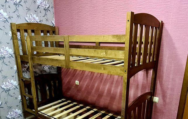 Кровать детская, 2-х ярусная! Натуральное дерево!