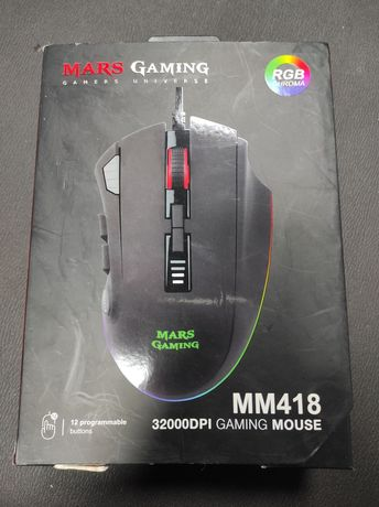 Mouse Mars Gaming MM418 USB 32000 DPI Negru - RGB - Nou Sigilat