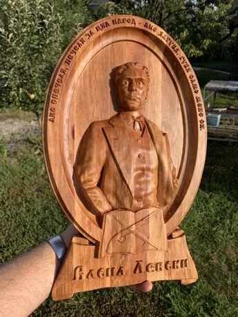 Дърворезба на Васил Левски