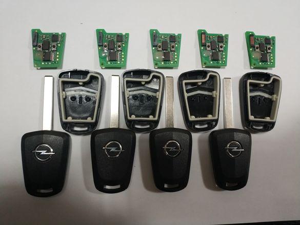 Оригинални реновирани ключове,opel astra H,zafira B 433mhz с pcf7941