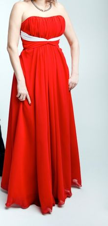 Красное платье 44 разм