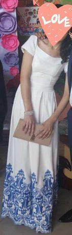Вечернее белое платье