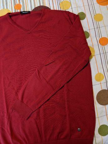 Мъжки пуловер Теодор цвят бордо