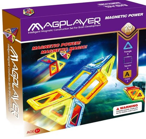 MagPlayer — Детский магнитный конструктор 20 элементов деталей