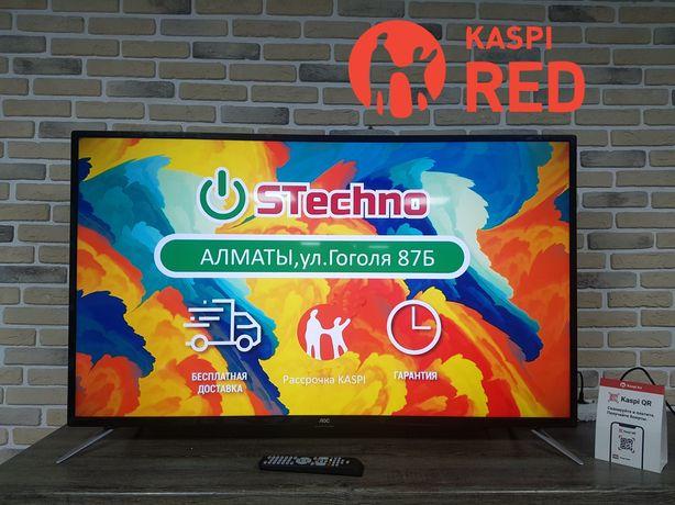 ТВ Smart 4K 127см Aoc 50U6085 Рассрочка KASPI RED!Гарантия год!
