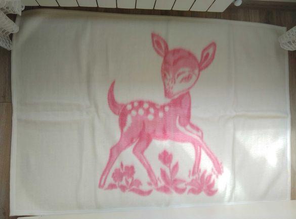 Детско вълнено одеяло с размери 97/141 см