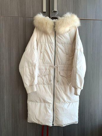 Пуховик пуховое пальто размер М