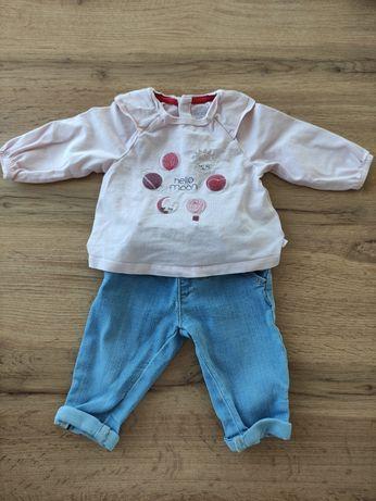 Комплект дънки и блузка р-р 3 месеца