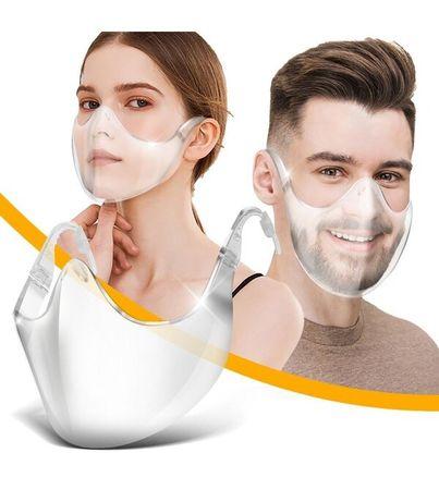 Masca Fashion transparenta usoara Neo Half protectie faciala nas gura