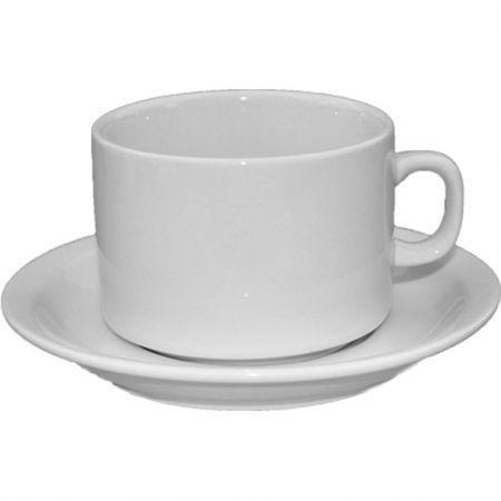 Set ceasca cu farfurioara din portelan pentru cafea 90 ml