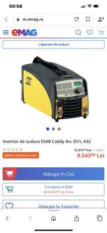 Esab arc251 A32 invertor aparat sudura tig mma atelier hale utilaje