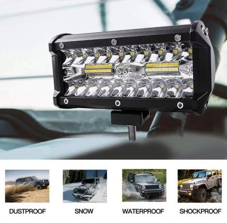 Proiector LED Bar 120W Offroad 16 cm 9600 Lumeni SUV ATV Camion Utilaj