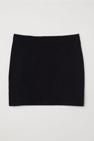 Fusta H&M neagra simpla scurta lejera bumbac 100% comoda