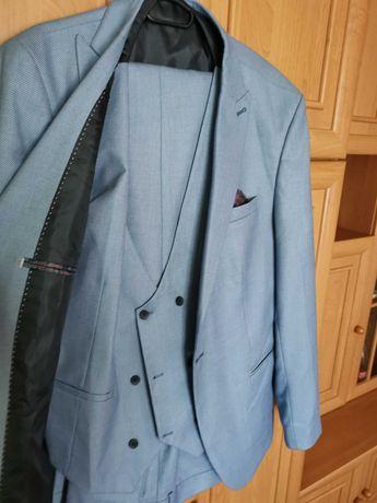 Costum bărbat din 3 piese albastru