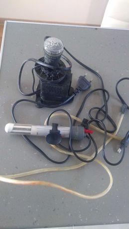 Нагревател и помпичка за въздух за аквариум