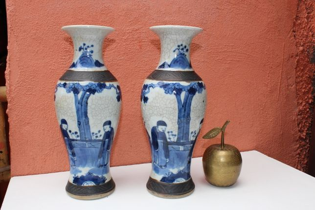 Pereche vaze portelan de colectie CHINA, cca 1870, secol 19, TONGZHI
