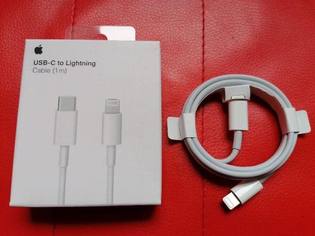 Cablu de Date Apple USB-C > Lightning 1m Incarcare iPhone XR 11 12 Pro
