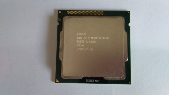 Процессор Intel Pentium G860 (аналог Core i3): 3GHz, LGA1155, 2 ядра