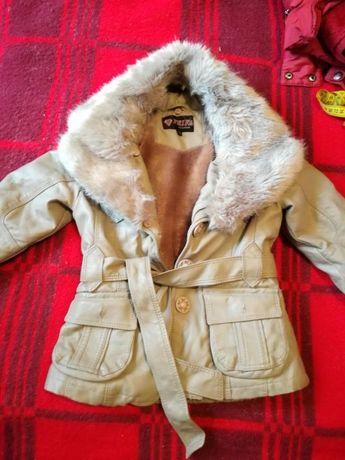 Детко кожено палто