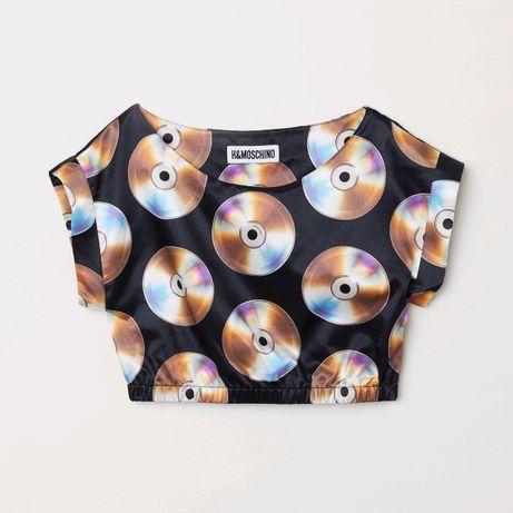Изключително рядка! Moschino x H&M дамска скъсена блуза