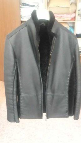 итальянская зимняя кожаная куртка от FERETTI