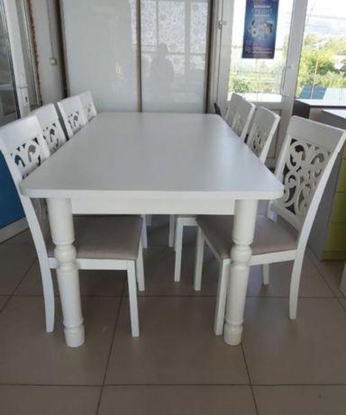Кухонный стол и стулья качество отличное дешево