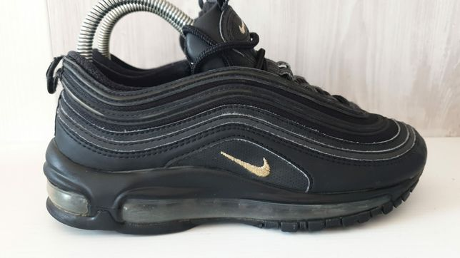 Nike Air Max 97 Black Metallic Gold mărime 37.5