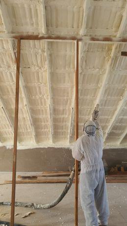 Утепления крыш ангары методом напыления ппу
