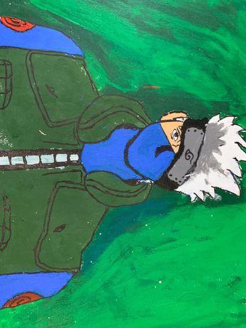 самодельный рисунок Какаши