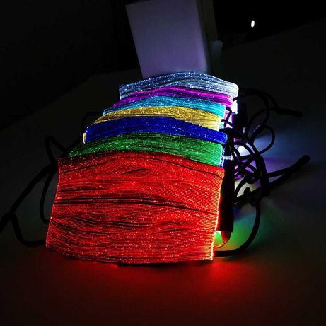 Masca fata led DJ UNTOLD SAGA fibra optica luminoasa PM2.5 +CADOU!