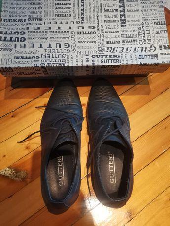 Елегантни мъжки обувки, естествена кожа Gutteri
