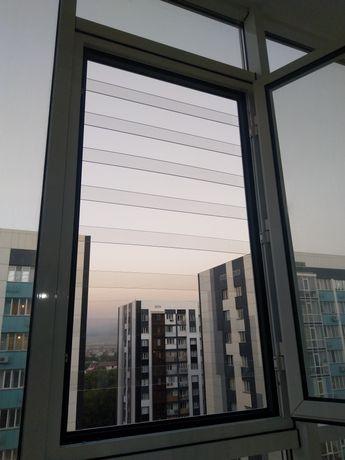Решётки на окна. Прозрачные решетки для детей.