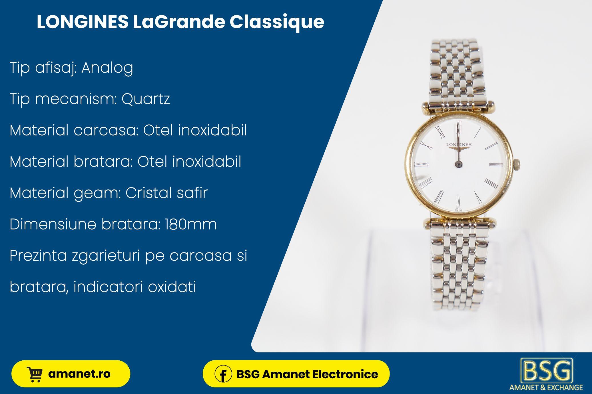 Ceas Longines LaGrande Classique - BSG Amanet & Exchange