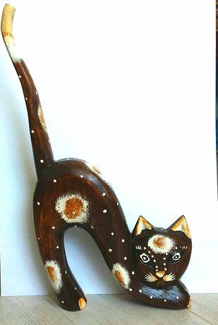 Интерьерная статуэтка кошки - коричневая албезия