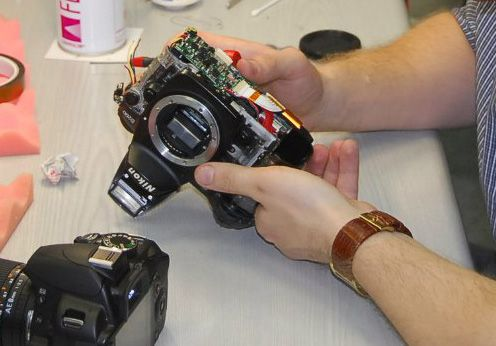 Ремонт фотоапаратов фотокамер камеры зеркальной цифровой на Дому