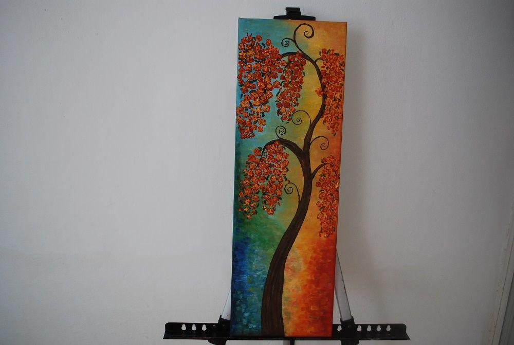 tablou canvas pictura in ulei pe panza 20x60 Alba Iulia - imagine 1