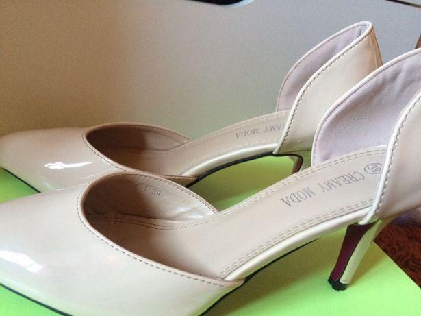 Pantofi lac noi cu toc