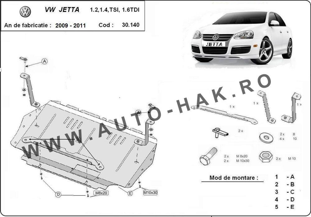 Scut motor metalic VW Jetta 2009-2011 Bucuresti - imagine 1
