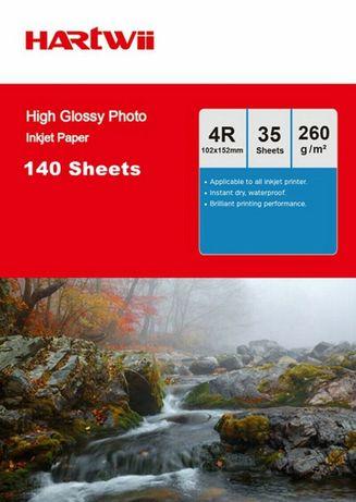 Фото хартия с високо качество и гланц 260гр. 10x15 13x18 A4 НОВИ ЦЕНИ