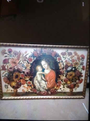 Vind Tablou vechi pictat pe Lemn 145cm/90cm