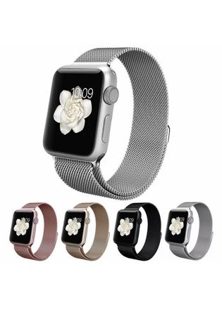 Магнитна каишка Milanese loop Apple watch Стоманена верижка 40/44mm