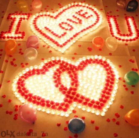 Листа от Рози - За незабравима романтична вечер + Балон Love изненада
