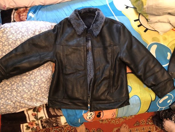 Кожаная куртка дубленка!