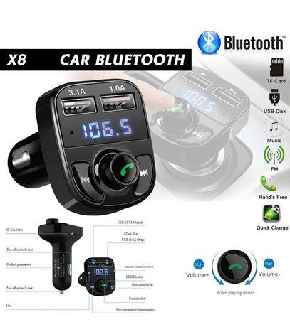modulator Bluetooth Auto carkit handsfree incarcator auto 3A cu 2USB